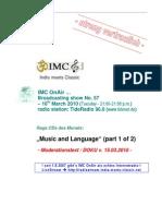 script of IMC OnAir's radio show (Raga CDs of the Months)