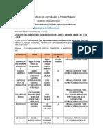 CRONOGRAMA DE ACTIVIDADES VINCULACION 69300