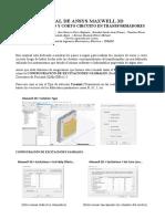Manual Ansys Maxwell 3d - Ensayo de Vacio y Corto