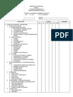 Teachers Evaluation Checklist