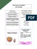 FORMATO FICHERO DE ACTIVIDADES