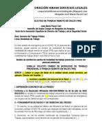 Modelo Solicitud de Trabajo Remoto en Salud (Trs) - Autor José María Pacori Cari