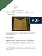 Despejan mitos de la Inquisición en la Nueva España