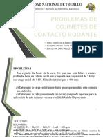 EJERCICIOS RODAMIENTOS DE CONTACTO RODANTE