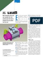 DFMA Vs. Lean Manufacturing