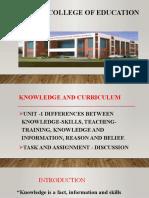 Dr. Shiyamala Knowledge & Curriculum