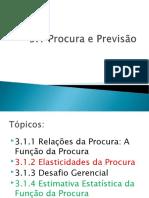 Cap 4 - Procura e Previsão