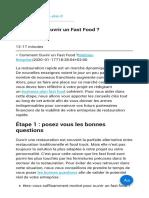 ▷ Comment Ouvrir un Fast Food