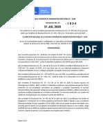 RESOL 1004 DE 31-07-2020 MODIFICA RESOL 887 - 835 - 713 y 748 DE 2020 CALENDARIO ACADEMICO