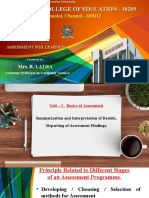 LATHA R - Assessment for Learning Unit - I.pptx