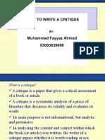 critiquepaper ppt2.ppt