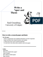 how to write research paper and thesis