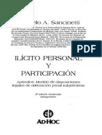 Sancinetti, M. Ilícito personal y participación.