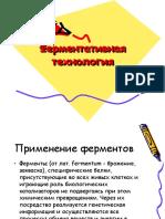 Презентация Ферментативная технология.ppt