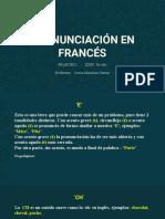 PRONUNCIACIÓN EN FRANCÉS (1)