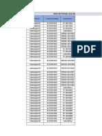 Anexo IV - Lista de equipamentos para execução das manutenções
