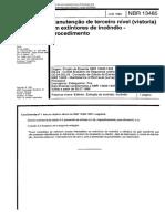 NBR 13485 - Manutenção de terceiro nível (vistoria) em extintores de incêndio - Procedimento