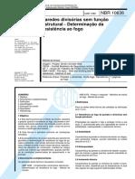 NBR 10636 - Paredes divisórias sem função estrutural - Determinação da resistência ao fogo