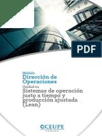 Sistemas de operación justo a tiempo y producción ajustada (Lean)