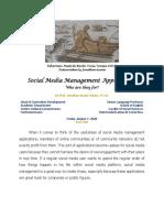 [4] Social Media Management Applications