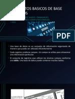 CONSEPTOS BASICOS DE BASE DE DATOS