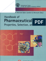 Handbook of pharmaceutical salts