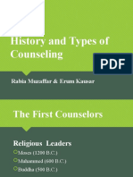 History and Types of Counseling