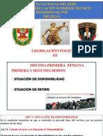 DÉCIMA PRIMERA SEMANA DE LEGISLACION POLICIAL