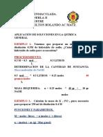 QUIMICA GENERAL II  APLICACION DE DISOLUCIONES