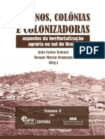 Colonos Colonias e Colonizadoras eBook-PDF