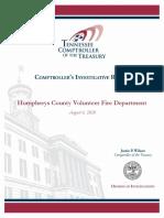 Humphreys County VFD Report
