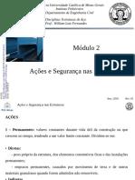 Estruturas de Aco - Cap 2 - AÇÕES E SEGURANÇA NAS ESTRUTURAS