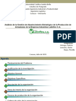 Presentación. Ingeniería Logística Actividades medulares