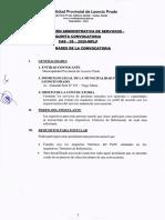 BASES DE LA CONVOCATORIA CAS N° 005-2020-MPLP