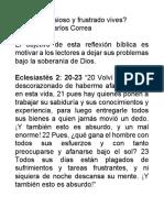 ¿Qué Tan Ansioso y Frustrado Vives - Rev. Juan C Correa