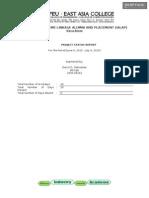 Project Status Report (Darryl)