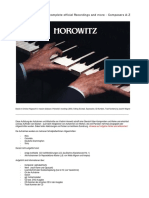 Horowitz A-Z complete official recordings and more