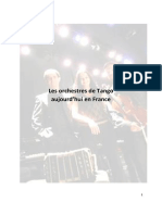 Orchestres de tango aujourd'hui en France