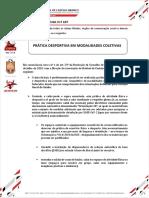 CO nº.107 _ Pratica desportiva em Modalidades Coletivas