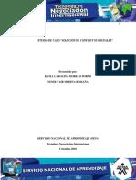 """Evidencia 6 Estudio de caso """"Solución de conflictos grupales"""""""