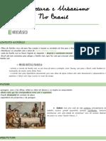 RESUMO ARQUITETURA E URBANISMO NO BRASIL
