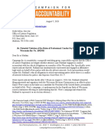CfA WI Ruhland OLR Letter