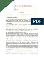 SENTENCIA DE ACCIÓN DE AMPARO