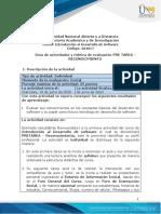 Guia de actividades y Rúbrica de evaluación - Pre tarea - Reconocimiento