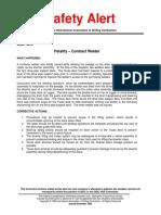 Fatality Contractor Welder