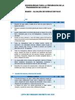 Lista chequeo diligenciada - PROTOCOLO ALCALDÍA SORACÁ