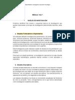 Módulo VII - Niveles de investigación E