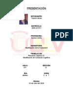 Yasmin - Resumen Cap. 27, Modificacion de la Conducta Cognitiva
