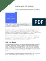 Bonificación en especie - SAP Free Goods