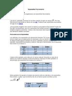Exponentes fraccionarios ejercicios
